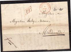 1849 C. Rombé Velsicque Via Sotteghem Rood To Notaris Saby To Audenaerde Betr Jean Bernard Delarûe P.P & L L   (EO2-1) - 1830-1849 (Belgique Indépendante)