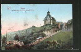 AK Namur, Le Funiculaire Et L'Hotel De La Citadelle, Bergbahn - Namur