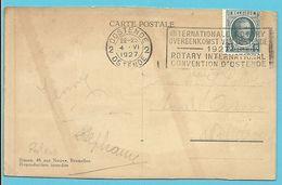 193 Op Kaart Met Mekanische Stempel BRUXELLES / ROTARY INTERNATIONAL CONVENTION D'OSTENDE 1927 - 1922-1927 Houyoux
