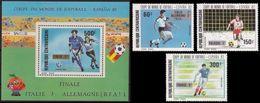 Soccer Football Central Africa Centrafricaine #882/4 + Bl 211 1982 World Cup Spain MNH  ** - 1982 – Spain