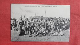 Chief Running Wolf & Party Of Blackfoot Indians  Ref 2707 - Indiens De L'Amerique Du Nord