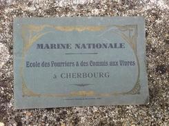 # RARE # CHERBOURG 16 PHOTO S MARINE NATIONALE école Des Fourriers Des Commis Aux Vivres ( Catalogue Militaire ) - Cataloghi