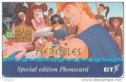 UK -  Disney, Hercules/Hercules(PUB076A), Chip GEM, Tirage %90000, Exp.date 31/03/99, Used - Disney