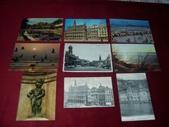 LOT  9 CARTES  DE  BELGIQUE - Belgique