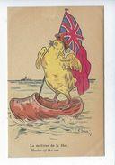 CPA Guerre 1914 1918 La Maîtrise De La Mer Poussin Sur Sabot Britannique Humoristique Illustrateur Santini Picot éditeur - Humour