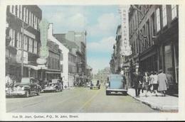 Rue Saint Jean, Quebec (St John Street) - Carte PECO Colorisée, Non Circulée - Québec - La Cité