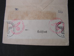 France , Mcv. Rennes  Mit Nazi  Zensur 1943 - Frankreich