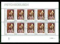 NEDERLAND * BLOK Van 10 PSYCHEDELISCH *  BLOC * BLOCK * NETHERLANDS * POSTFRIS GESTEMPELD (7) - Periode 1980-... (Beatrix)