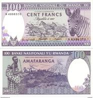 RWANDA 100 Francs P 18 1989 UNC - Rwanda
