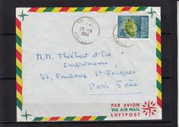 """TOGO     Lettre De ATAKPAME   Le 20 10 1964    """" Zeus Faber 25F TIMBRE  SEUL SUR LETTRE """"  Pour PARIS - Togo (1960-...)"""