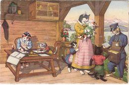 CP Chat Chats Edition Max Kunzli Animaux Humour Facteur - Contemporanea (a Partire Dal 1950)