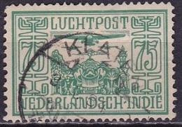 Ned. Indië: Langebalkstempel KLATEN (295) Op 1928 LP 75 Cent Groen NVPH LP 9 - Indes Néerlandaises