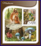SOLOMON ISLANDS 2017 ** Squirrel Eichhörnchen Ecureuil Mushrooms S/S - OFFICIAL ISSUE - DH1740 - Rongeurs