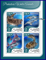 SOLOMON ISLANDS 2017 ** Prehistoric Water Animals Wassersaurier Dinosaures M/S - OFFICIAL ISSUE - DH1740 - Stamps
