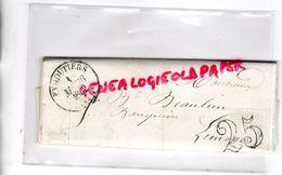87- EYMOUTIERS- LETTRE RESULTATS ELECTIONS 1 REPRESENTANT A M. BEAULIEU BANQUIER A LIMOGES-1852-REMPNAT-DOMPS-NEDDE- - 1849-1876: Période Classique