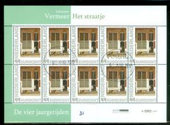 NEDERLAND * BLOK Van 10 * DE VIER JAARGETIJDEN * VERMEER *  SCHILDERIJ * BLOC * BLOCK * POSTFRIS GESTEMPELD (31) - Periode 1980-... (Beatrix)