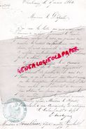 50 - CHERBOURG- RARE LETTRE COLONEL DU 18 E REGIMENT INFANTERIE DE LIGNE-AU FUSILIER QUEROIX- A NOUALHIER DEPUTE PARIS - - Historical Documents