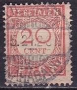 Ned. Indië: Langebalkstempel WELTEVREDEN TANAHABANG (927) Op 1913-40 Strafport 20 Ct Lichtrood NVPH P 31 - Indes Néerlandaises