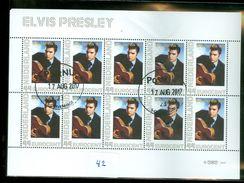 NETHERLANDS * BLOK Van 10 * ELVIS PRESLEY * BLOC * BLOCK * POSTFRIS GESTEMPELD (42) CANCELLED - Elvis Presley