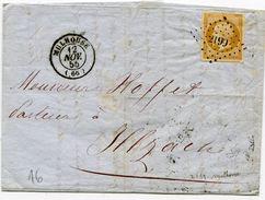 HAUT RHIN De MULHOUSE LAC Du 12/11/1855 Avec N°13 Oblitéré PC 2199 - 1849-1876: Periodo Clásico
