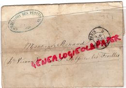 87-SAINT SULPICE LES FEUILLES-LETTRE PARIS 1856 AVEC CACHET COMMISSION  PETITIONS EMPEREUR A M. RENAUD LEGION HONNEUR - 1849-1876: Période Classique