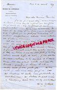 75-PARIS- LETTRE MINISTERE DE LA MAISON DE L' EMPEREUR -PALAIS ROYAL BUREAU ARCHITECTE A ARMAND NOUALHIER MAIRE LIMOGES- - Marcophilie (Lettres)