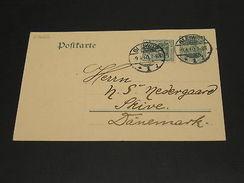 Germany 1910 Gleiwitz Postal Card To Denmark *27665 - Unclassified