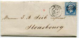 MEURTHE ET MOSELLE De SAINTE ANNE  LAC Du 18/08/1865 Avec N°22   Oblitéré GC 2598 De NANCY - Postmark Collection (Covers)