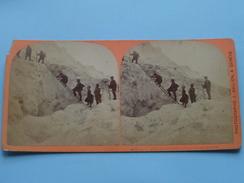 PASSAGE Des ECHELLES Aux GRANDS MULETS ( 482 ) Stereo Photo J. JULLIEN Genève ( Voir Photo Pour Detail ) ! - Photos Stéréoscopiques