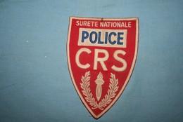 Très Ancien écusson  POLICE CRS SURETE NATIONALE - Police & Gendarmerie
