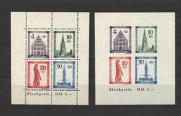 Baden,Bl.1A-B,xx,gep.  (5290) - Französische Zone