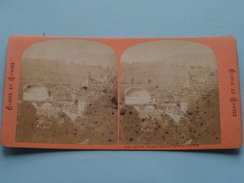 BERNE Vue Sur L'AAR Et L'Eglise De NYDECK ( 2742 ) Stereo Photo Coll. SUISSE Et SAVOIE ( Voir Photo Pour Detail ) ! - Photos Stéréoscopiques