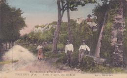 La Provence Pittoresque - Tourtour - Route D'Aups, Les Rochers (animation) Pas Circ, Colorisée - France