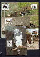 DDR, 1985, Michel 2952/56 MC, Bedrohte Tiere - Maximum Cards