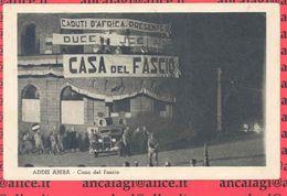 "ETIOPIA - 02 - ADDIS ABEBA ""Casa Del Fascio"" - Cartolina Viaggiata 1937 - Etiopia"