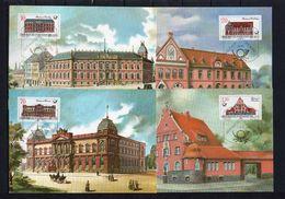 DDR, 1987, Michel 3067/70 MC, Postgebäude - DDR