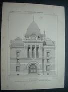 ARCHITECTURE..GRAVURE De 1897.. Nouvelle GALERIES Du MUSEUM HISTOIRE NATURELLE à PARIS .. Architecte M. DUTRET - Architecture