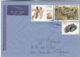 Football - Espana 82 - Mineraux - Antilopes - Zaïre - Lettre De 1990 ? - Avec Timbre Rare 1413 A Surchargé - Zaïre