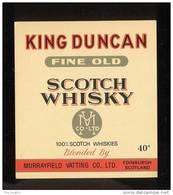 Etiquette De  Scotch Whisky -  King Duncan  -  Ecosse - Whisky