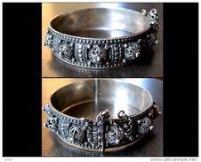 Ancien Bracelet Oriental à Pampilles / Old Oriental Silver Bracelet - Oriental Art