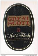Etiquette De Scotch  Whisky  -  Great Scott -   Ecosse - Whisky