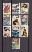 Japan 2012 - Ukiyoe Series 1, Used Stamps, Michelnr. 6084-93 - Gebruikt