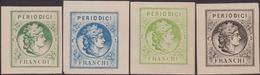 """Italia Regno 1864 : Saggio Hummel """"Periodici"""" (*) 4 Valori. - 1861-78 Victor Emmanuel II"""