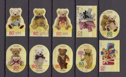 Japan 2012 - Greetings Autumn 80 Yen, Used Stamps, Michelnr. 6125-34 - Gebruikt