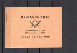 DDR, 1966, Markenheft 4 B/MDN, Michel 845/8 Mal, 846/16 Mal, Postfrisch/**/MNH - Carnets