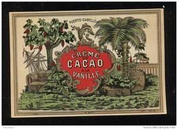 Etiquette  De  Crème  De Cacao à La Vanille  -  Puerto Cabello - Labels