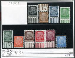 Deutsches Reich - Deutschland - Allemagne - Michel 512-521 - ** Mnh Neuf Postfris - Ungebraucht