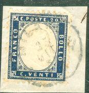 Italy 1862 Effige V. Emanuele In Rilievo 20 C. - Lot. RE7 - 1861-78 Vittorio Emanuele II