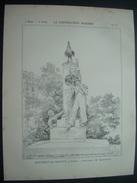 ARCHITECTURE..GRAVURE De 1898..MONUMENT De CHARLET, à PARIS XIVe .. Sculpteur M. CHARPENTIER - Architecture
