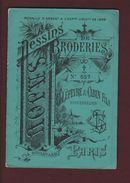Livret De  Dessins De BRODERIE - N° 657 - LEFEVRE & CABIN Fils à PARIS - Médaillé à Paris En 1889 - 6 Scannes - Publicités